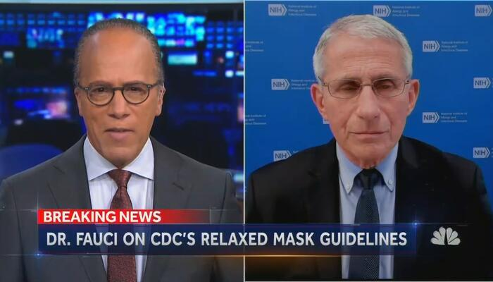Mask Addiction: NBC Can't Quit, Presses Fauci to Rip New Guidelines
