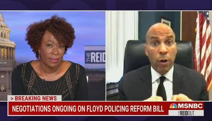 WATCH: Joy Reid Squirms When Booker Says She Can't Paint GOPers 'With a Broad Brush'