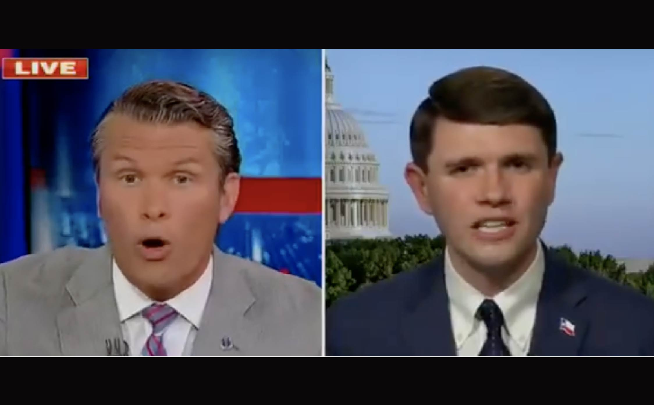 """[VIDEO] Pete Hegseth Manhandles Pipsqueak Texas Dem, Uncovers Real Reason They Reject """"Voter ID"""""""