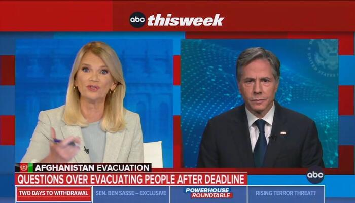 ABC's Raddatz Calls Out Blinken Telling Americans to 'Trust' Taliban for Safety