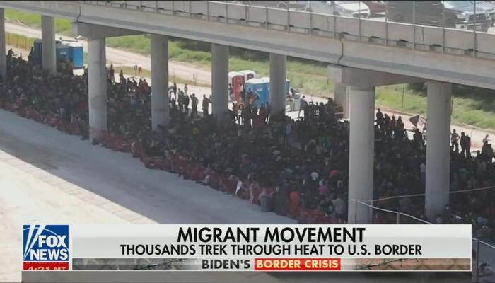 Nets Hide Massive Group of Illegals Apprehended at Border, Over 1,000