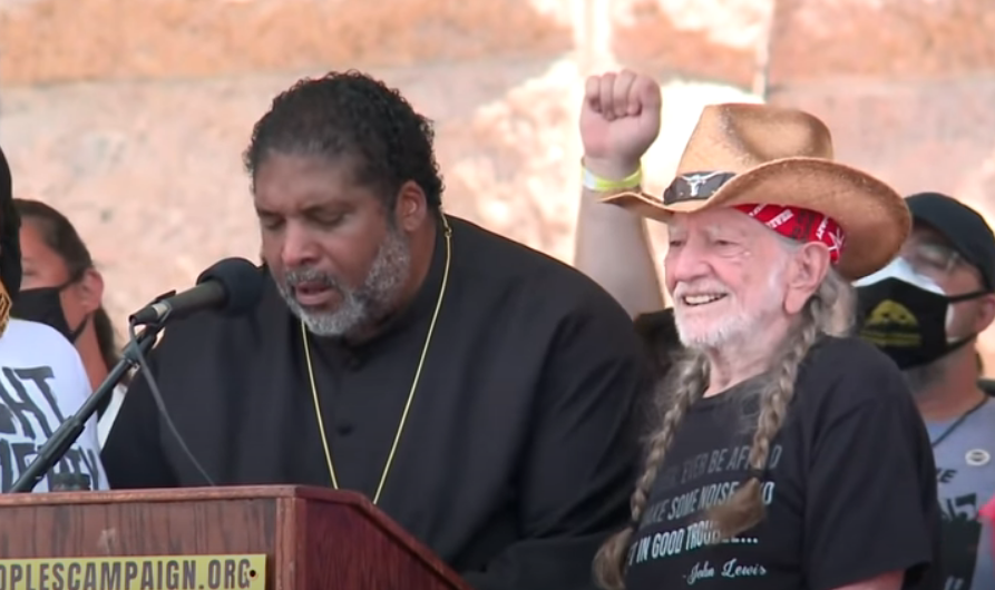 Willie Nelson Performs at Rally, Calls Election Integrity 'Un-American'
