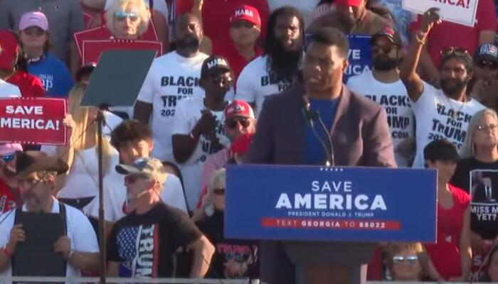 Herschel Walker Shines For Conservativism At Save America Rally