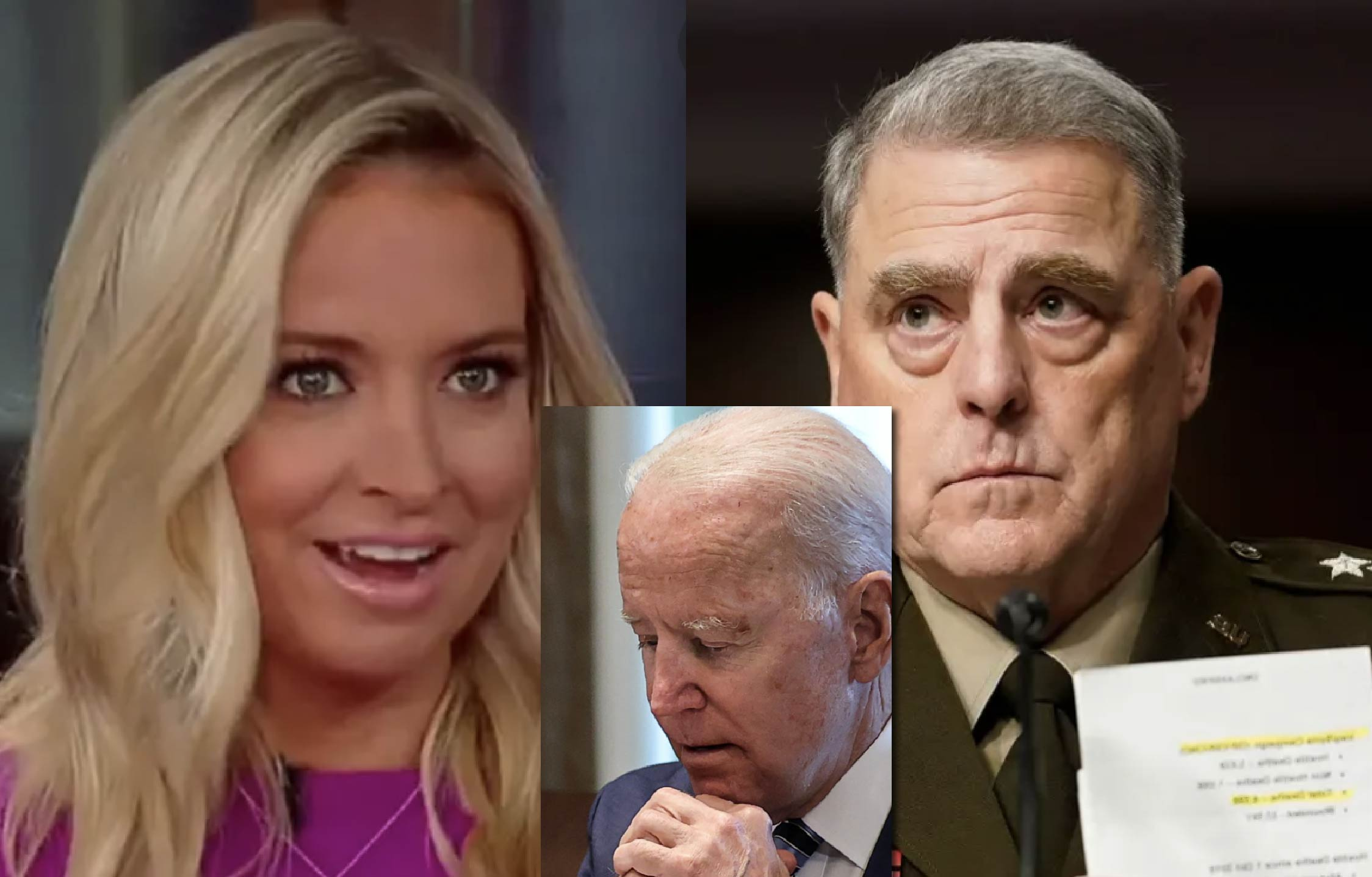 Kayleigh McEnany Absolutely Floored Over How Top Military Brass Just Totally Sunk Joe Biden