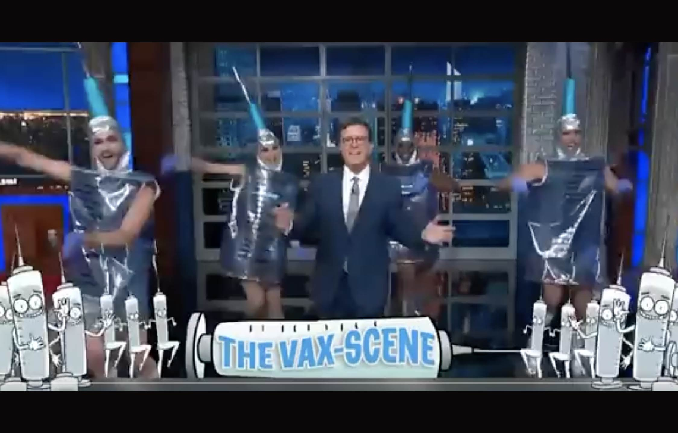 """[VIDEO] Colbert Goes Full """"Cult-Propaganda"""" With Elaborate and Embarrassing New Vaccine Dance Number"""
