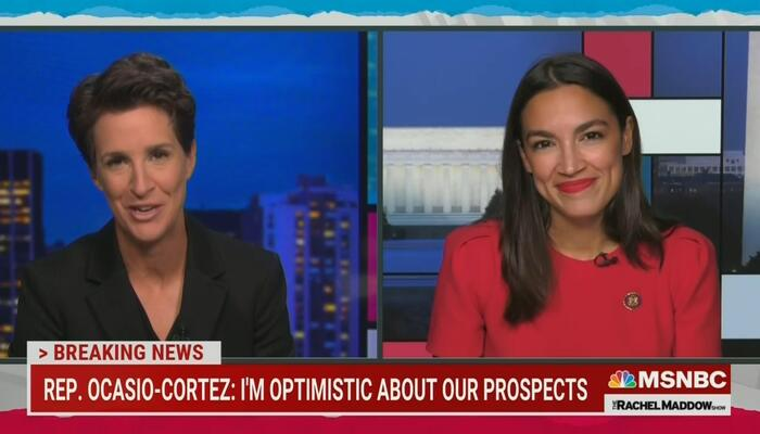 How Soft Was MSNBC's Rachel Maddow on AOC? Let Us Count the Ways...