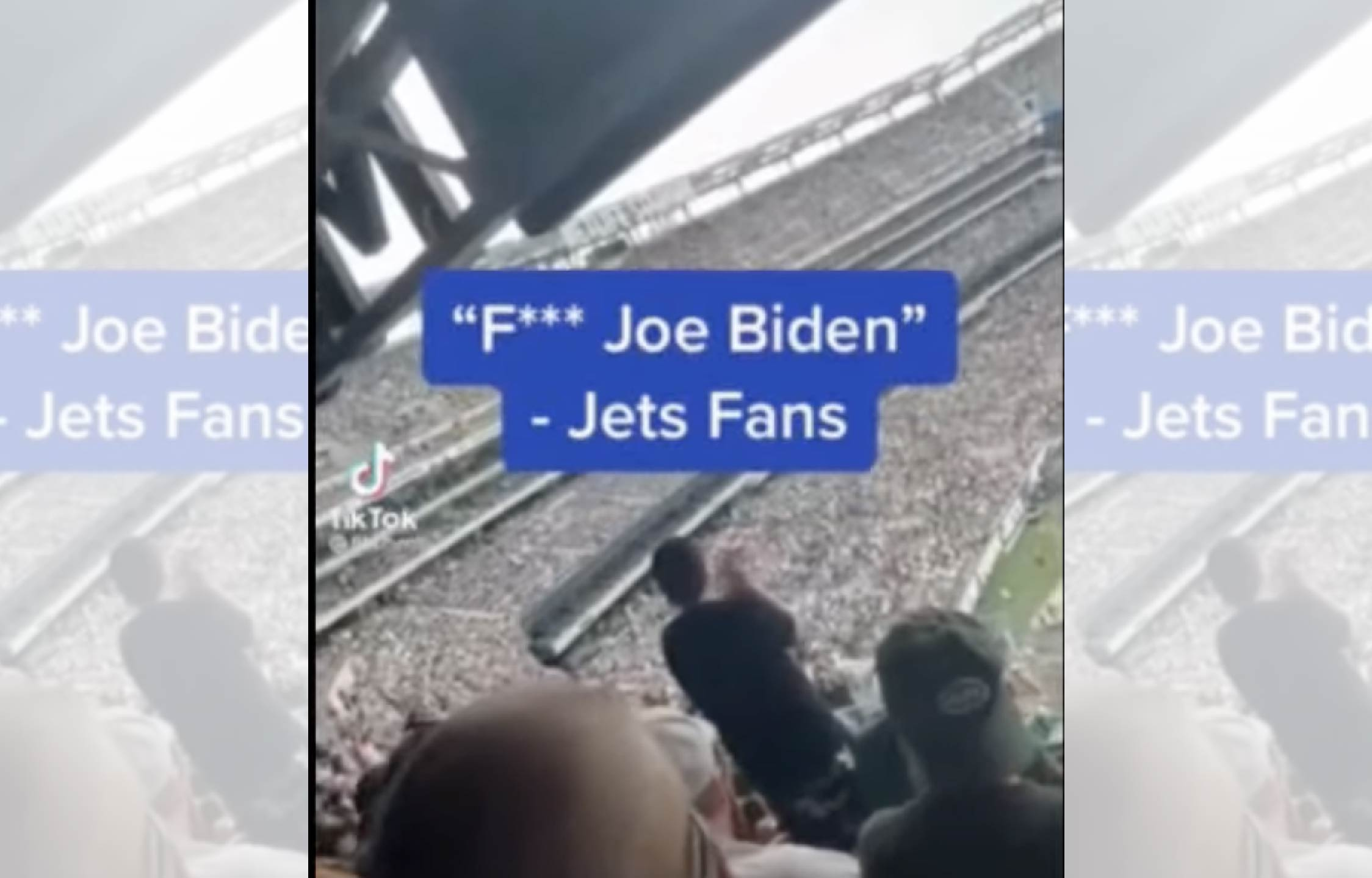 """[VIDEO] Loud, Booming """"F Joe Biden"""" Chant Makes Its Way to The New York Jets NFL Game"""