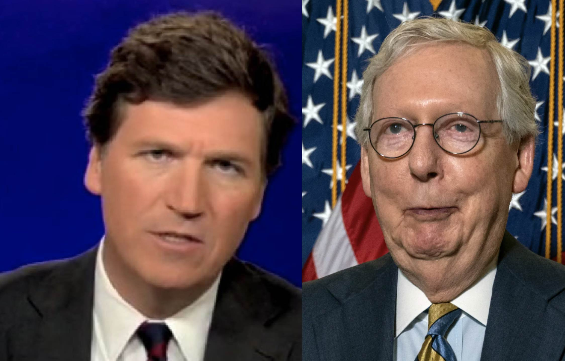 [VIDEO] Tucker Says He Knows What's Really Going On Here, And Mitch McConnell's In On It